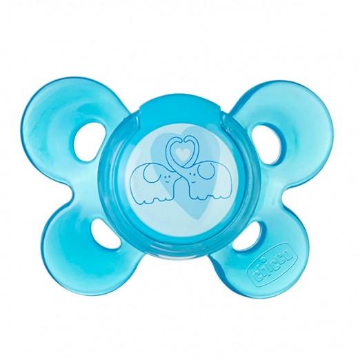 شيكو – لهايات Physio Comfort بغطاء (سيليكون) 1 حبة - لون أزرق (4 شهور فما فوق)
