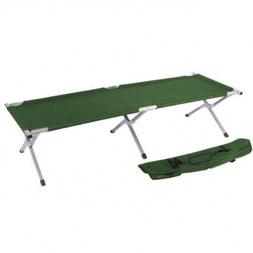 سرير التخييم المعدني القابل للطي (182 × 63 × 43 سم) - لون أخضر