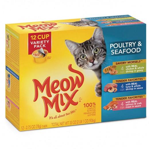 ميو ميكس – طعام القطط بالدواجن وطعام البحر 936جم