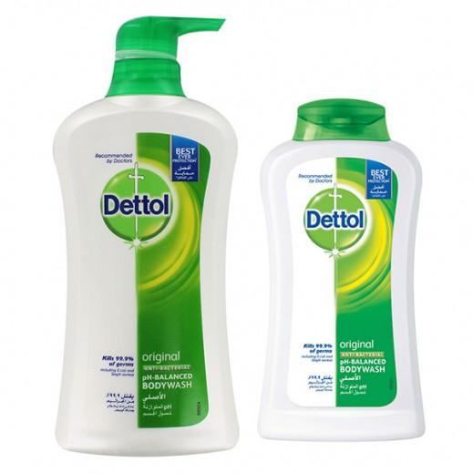 ديتول – غسول الجسم الأصلي للحماية من الجراثيم 500 مل + 250 مل مجاناً