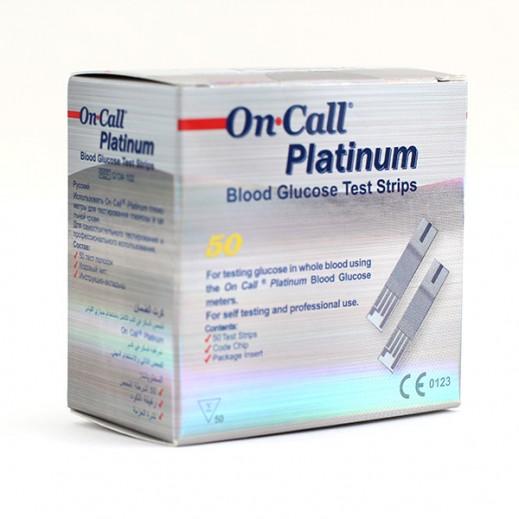 أون كول بلاتينيوم – شرائط لقياس نسبة السكر في الدم 50 حبة