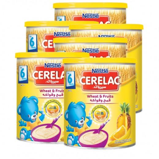 """سيريلاك – طعام الأطفال بالقمح والفواكة """" المرحلة الثانية """" 6 × 400 جم - أسعار الجملة"""