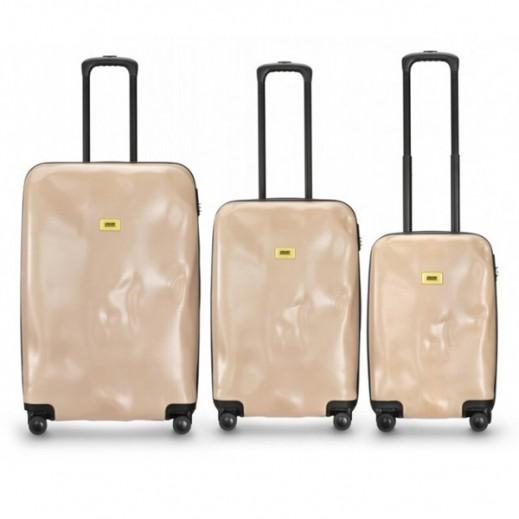 كراش باجيدج – طقم حقائب سفر سبينر لون بينك نود طقم 3 حقائب  (أحجام مختلفة)