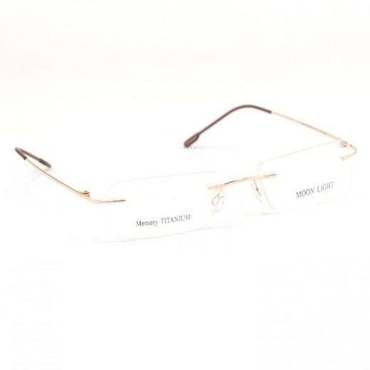 ميموري تيتانيوم - إطار نظارات العيون مون لايت من التيتانيوم - لون ذهبي/بني