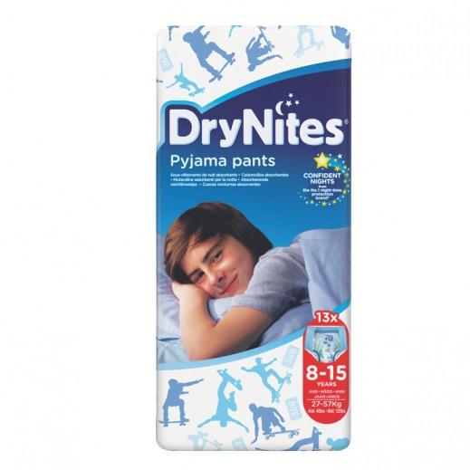 دراي ناتيس – حفاضات دراي نايتس للأولاد (8-15 سنة) وزن 27-57 كجم - 13 حبة