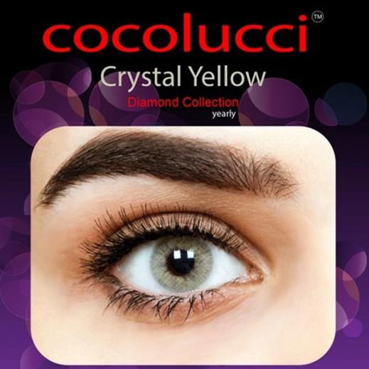 كوكولوتشي – عدسات لاصقة إستخدام سنة بدون وصفة-  لون أصفر كريستالي 1 زوج