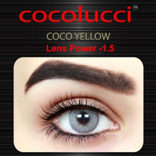 كوكولوتشي – عدسات لاصقة إستخدام شهر (مقاس -1.5) أصفر 1 زوج