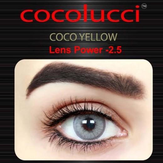 كوكولوتشي – عدسات لاصقة إستخدام شهر (مقاس -2.5) أصفر 1 زوج