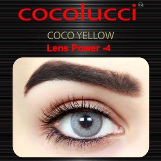 كوكولوتشي – عدسات لاصقة إستخدام شهر (مقاس -4) أصفر 1 زوج