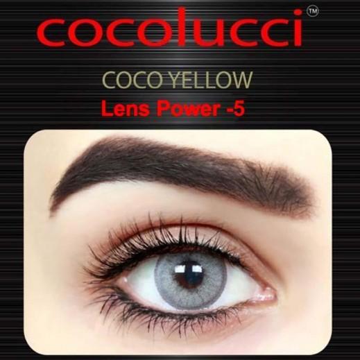 كوكولوتشي – عدسات لاصقة إستخدام شهر (مقاس -5) أصفر 1 زوج