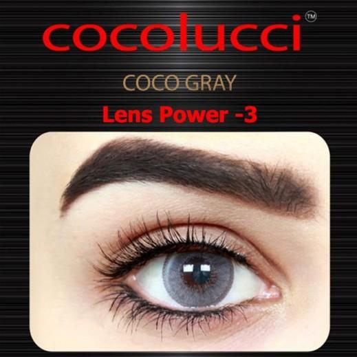كوكولوتشي – عدسات لاصقة إستخدام شهر (مقاس -3) رمادي 1 زوج