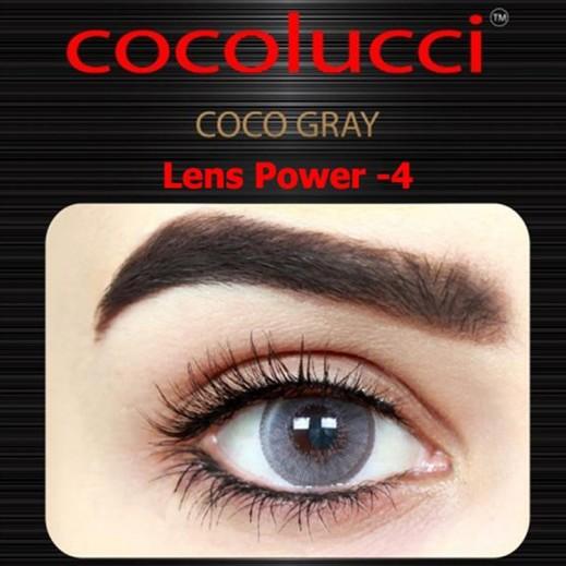 كوكولوتشي – عدسات لاصقة إستخدام شهر (مقاس -4) رمادي 1 زوج