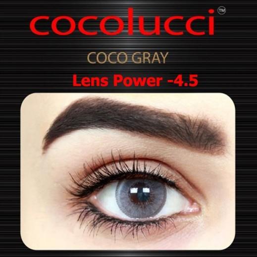 كوكولوتشي – عدسات لاصقة إستخدام شهر (مقاس -4.5) رمادي 1 زوج