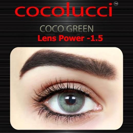 كوكولوتشي – عدسات لاصقة إستخدام شهر (مقاس -1.5 ) أخضر 1 زوج