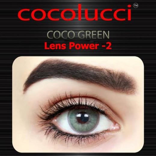 كوكولوتشي – عدسات لاصقة إستخدام شهر (مقاس -2 ) أخضر 1 زوج