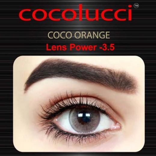 كوكولوتشي – عدسات لاصقة إستخدام شهر (مقاس -3.5 ) برتقالي 1 زوج