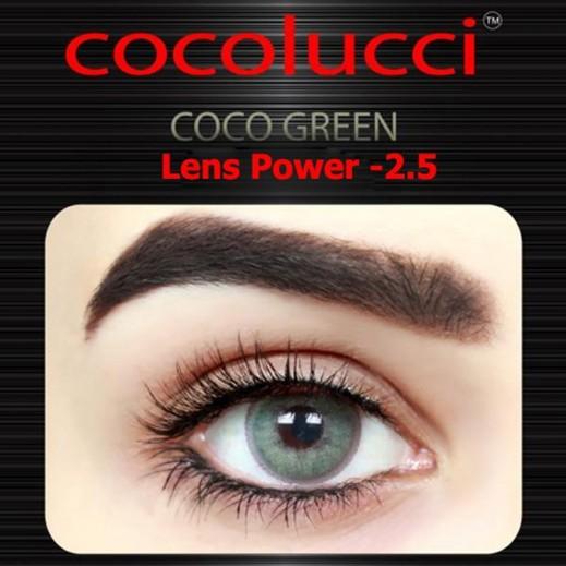 كوكولوتشي – عدسات لاصقة إستخدام شهر (مقاس -2.5 ) أخضر 1 زوج