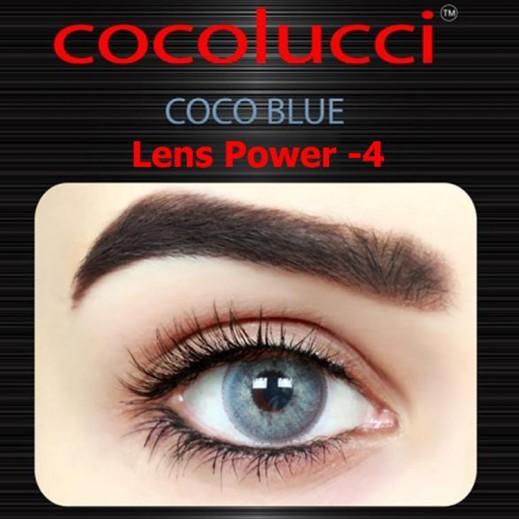 كوكولوتشي – عدسات لاصقة إستخدام شهر (مقاس – 4) أزرق
