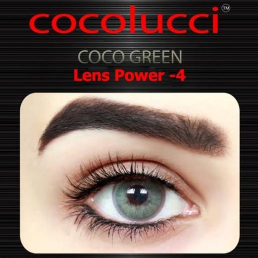 كوكولوتشي – عدسات لاصقة إستخدام شهر (مقاس -4 ) أخضر 1 زوج