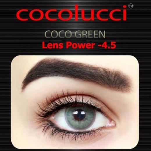 كوكولوتشي – عدسات لاصقة إستخدام شهر (مقاس -4.5 ) أخضر 1 زوج