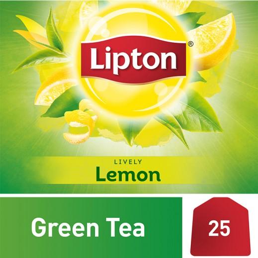 ليبتون - شاي أخضر بالليمون 25 كيس