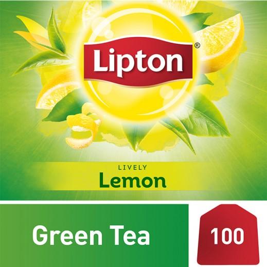 ليبتون – شاي أخضر بالليمون 100 كيس