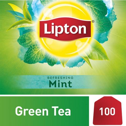 ليبتون - شاي أخضر بالنعناع 100 كيس