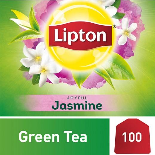 ليبتون - شاي أخضر بالياسمين 100 كيس