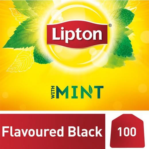 ليبتون – شاي أسود مع النعناع 100 كيس