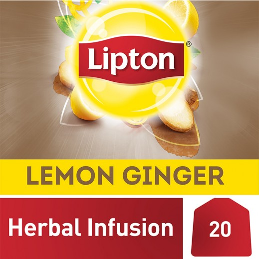 ليبتون – شاي ليمون وزنجبيل 20 كيس
