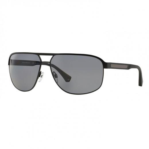 امبوريو أرماني – نظارة شمسية للرجال أسود/رمادي بلوري موديل EAR 2025 3001 81 مقاس 64