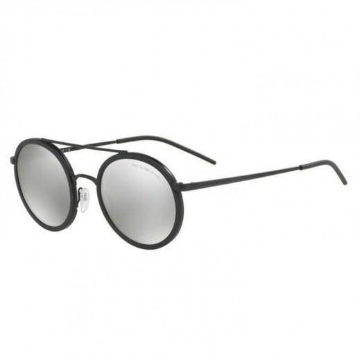 c7b68bed2 امبوريو أرماني – نظارة شمسية للرجال عاكسة أسود/رمادي فاتح عاكس لون رمادي  موديل EAR