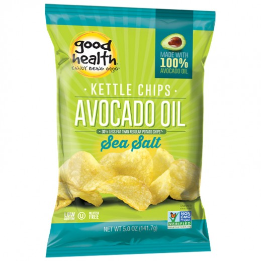 جود هيلث – بطاطا شيبس عضوية كيتل زيت أفوكادو بنكهة الملح البحري 141.7 جم