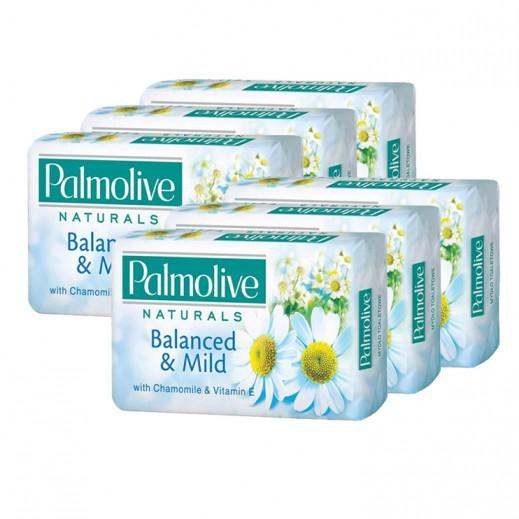 بالموليڤ – صابون متوازن وناعم بخلاصة الكاموميل وفيتامين هـ - 170 جرام (5+1 مجانا)