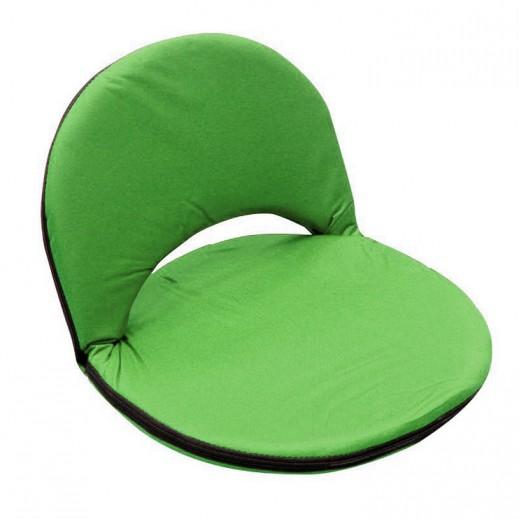 مقعد أرضي بظهر قابل للطي والتعديل - أخضر
