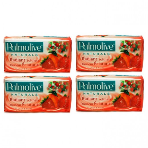 بالموليڤ – صابون بخلاصة الزبادي والفواكه 4 × 170 جم