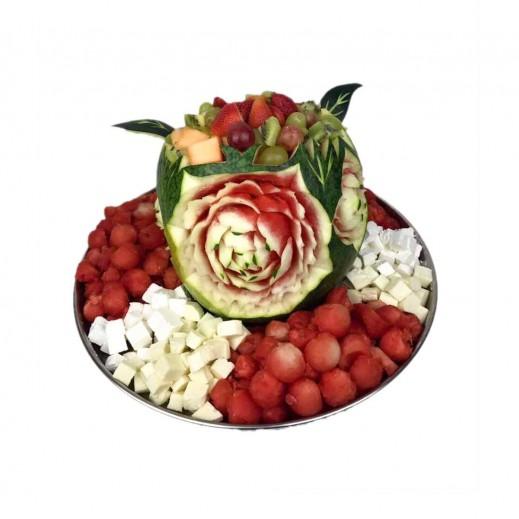 طبق حفلة الفواكه - يتم التوصيل بواسطة Fruit Art
