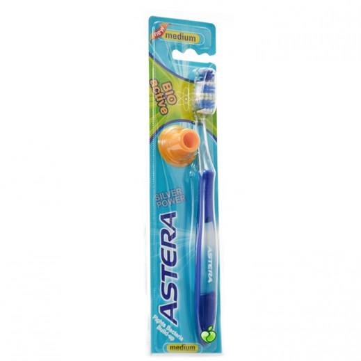 أستيرا – فرشاة تنظيف الأسنان بيو أكتيف حجم وسط