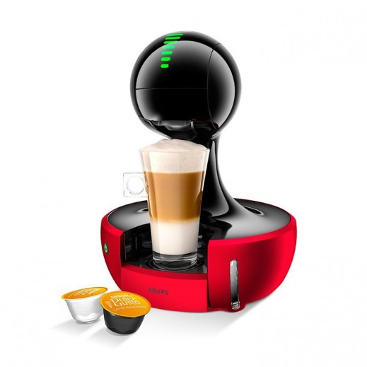 نسكافيه دولتشي جوستو - ماكينة تحضير القهوة موديل (Drop) – أحمر - يتم التوصيل بواسطة مخزن شركة توصيل في اليوم التالي