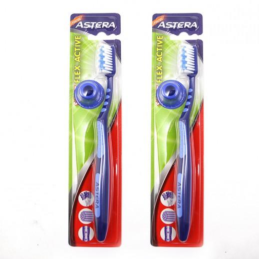 أستيرا – فرشاة تنظيف الأسنان فليكس أكتيف الرقيقة (2 حبة)