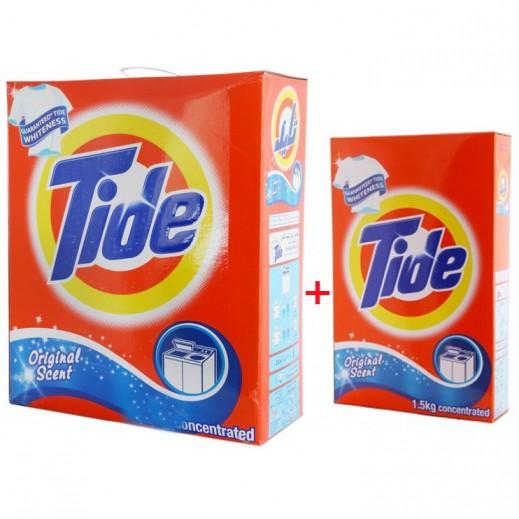 تايد - مسحوق الغسيل العطر الأصلي للغسالات العادية 3 كجم + 1.5 كجم مجاناً