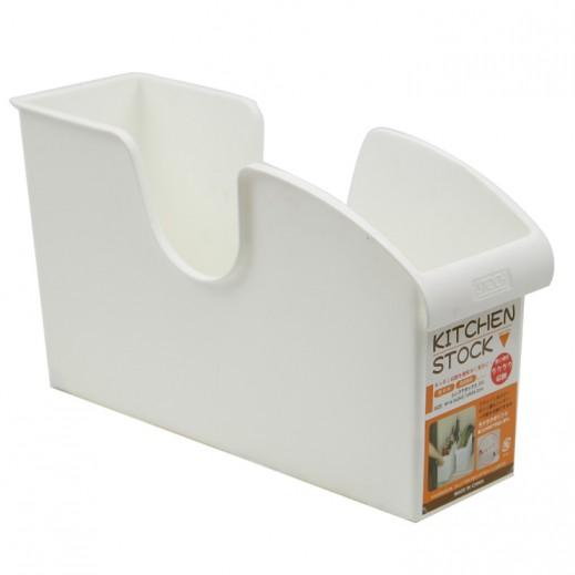 رف بلاستيك حامل لأدوات المطبخ – أبيض