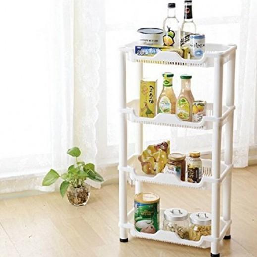 رف بلاستيك حامل لأدوات المطبخ 4 طبقات