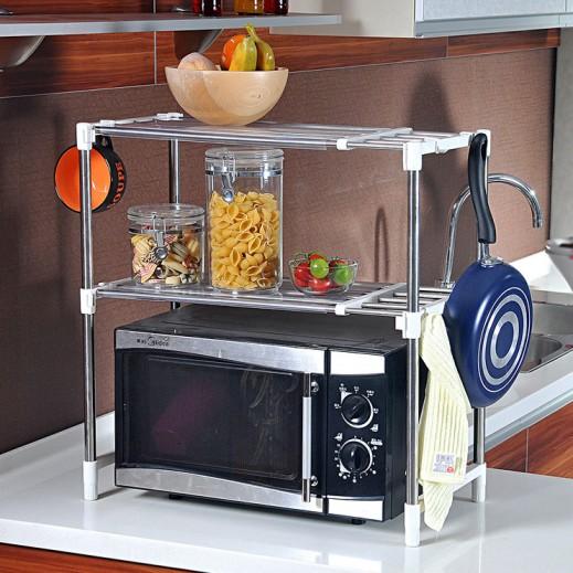رف لأغراض المطبخ يوضع فوق الميكرويف