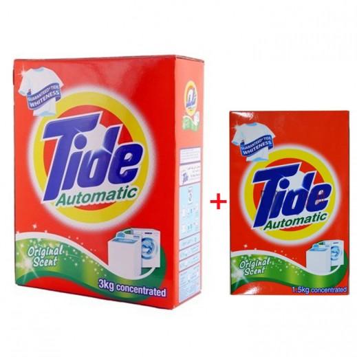 تايد - مسحوق الغسيل بالعطر الأصلي للغسالات الأوتوماتيك 3 كجم + 1.5 كجم مجاناً