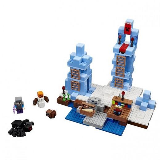 ليجو – لعبة تركيب المكعبات ماين كرافت مسامير الثلج