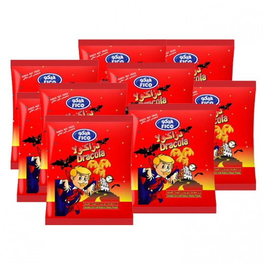 فيكو دراكولا - ذرة بالجبنة الطبيعية 80 × 30 جم