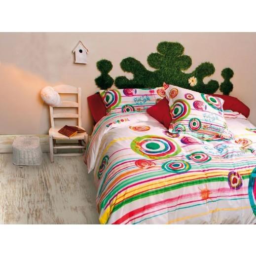 ديسيغوال طقم غطاء لحاف بينتبارتي 3 قطع 220×240 سم - يتم التوصيل بواسطة Dunia Stores