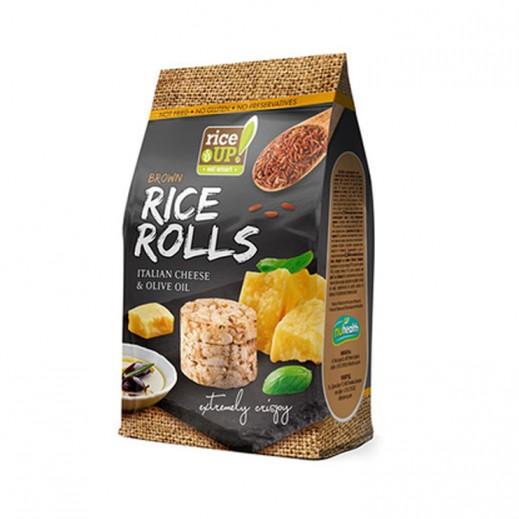رايس أب - لفائف الأرز - بالجبن الايطالي وزيت الزيتون 50 جم