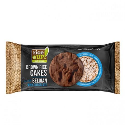 رايس أب - كعك الأرز مع الشوكولاته البلجيكية بالحليب 90 جم